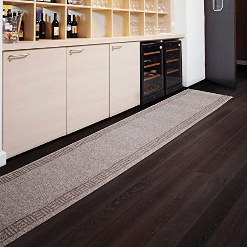 Tapis de passage casa pura® PRIMAVERA Beige | pour cuisine, couloir, entrée | poids du poil env. 1150 g par m² - matière résistante | tailles diverses, 66x300cm