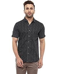 Mufti Button Down Printed Half Sleeves Shirt