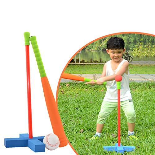 Joyibay Kinder Baseball Set Spielzeug Training Foam T Ball Baseball Schläger Spielzeug (Zufällige Farbe)