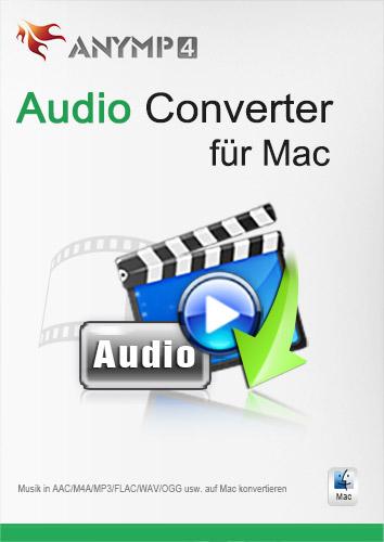 Preisvergleich Produktbild AnyMP4 Audio Converter für Mac 1 Year License - Video / Audio in populäre Audioformate auf Mac umwandeln [Download]