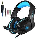 Senhai 3,5 millimetri computer Gaming cuffia Con microfono earmuffs per Controller Xbox One per PC PS4, Bass Noise Cancelling Giochi Surround telefono Skype online