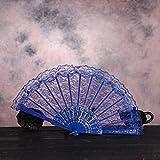 Bobopai Folding Hand Fan Chinese Vintage Retro Style Dance Wedding Party Lace Silk Folding Hand Held Flower Fan - for Women Men Best Gifts