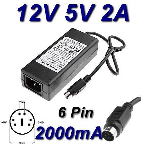TOP CHARGEUR ® Netzteil Netzadapter Ladekabel Ladegerät 12V 5V 2A 6 PIN für Ersatz Flypower SPP34-12.0/5.0-2000