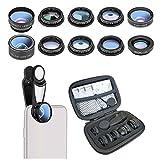 ZLC Handy-Kamera-Objektiv Fisheye Weitwinkel-Makro-Teleite-Macro-Teleite-Serien universellen 10-in-1-Handy-Objektiv kompatibel mit Smartphones und Tablets