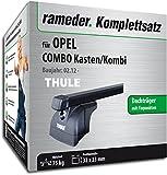 Rameder Komplettsatz, Dachträger SquareBar für Opel Combo Kasten/Kombi (116023-10000-1)