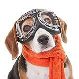 Lunettes de soleil pour chien Lunettes pour chiens Lunettes de ski pour chiens avec lunettes anti-UV pour chiens Protection pour animaux de compagnie avec sangle réglable pour les voyages,transparent