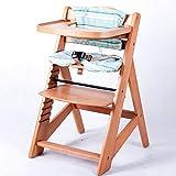 Chaise Haute en bois Ajustable Chaise bébé Escalier chaise haute NATURE...