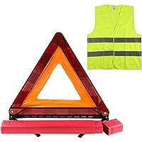 YOUYIYI Kits de emergencia para automóviles, triángulos de advertencia, chalecos de seguridad, kit de chaleco triangular, kit de seguridad para automóviles