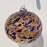 Kugel zum hängen bunte Glaskugel Ornament zum hängen bunt gelüstert mundgeblasenes Kristallglas Fensterdekoration Durchmesser ca. 9 cm Oberstdorfer Glashütte