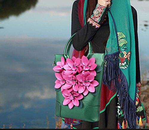 Frauenfarbe Breiter Schultergurt Weiblicher Beutel 2017 Blume Retro- Handtaschen-Schulterbeutel A2