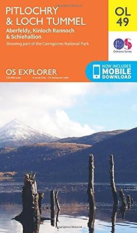 OS Explorer OL49 Pitlochry & Loch Tummel (OS Explorer Map)