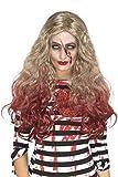 Smiffys 46855 Déguisement Femme, Perruque Ensanglantée Zombie Os Blonde & Red