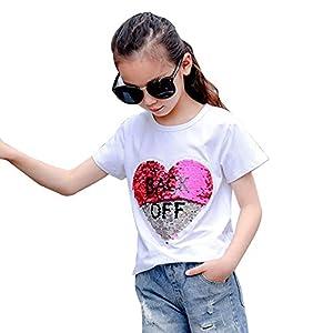 Desigual Corazón Lentejuela Camiseta Niña