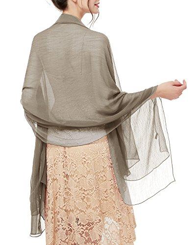 Bridesmay donna solida spiaggia sciarpe sciarpa protezione solare scialli semi-opaco khaki