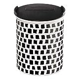 ASA Selection Coppa Vorratsdose, Dose, Behälter, mit Deckel, Squares, Keramik, Schwarz / Weiß, 4876014