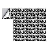 MagiDeal 1 Set Selbstklebende Mosaik Fliesenbilder Fliesensticker Dekosticker für Badezimmer Küche - B