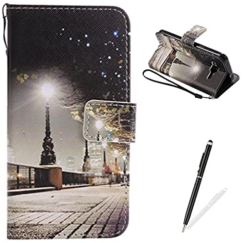 Samsung Galaxy J3/J310 Case,Feeltech Elegant Premium Flip PU Leather Wallet Cover with Magnetic Closure Stand Function Protective [Free 2 in 1 Stylus] Credit Card Slots Holder and Money Pouch Vintage Retro Cartoon Pattern Design Flip Book Style Cover Case With Hand Strap for Samsung Galaxy J3/J310 - London Street