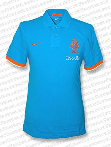 Nike - Holanda Polo AZ EURO12 Hombre Color: - Blau - Orange Talla: L