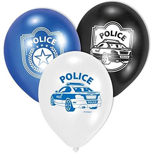 (6-teiliges Luftballon-Set * POLIZEI * // AMSCAN // Kindergeburtstag Kinder Geburtstag Feier Set Mottoparty Deko Fest Party Motto Deko Luftballons Ballons Police Polizeiauto)