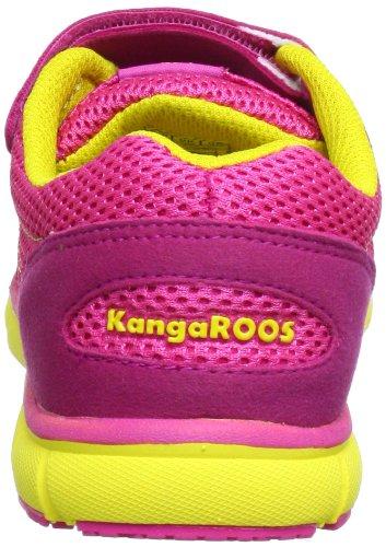 Kangaroos Nuri Combo, Baskets mode fille Rose (Lillipilli/Neonyellow 678)