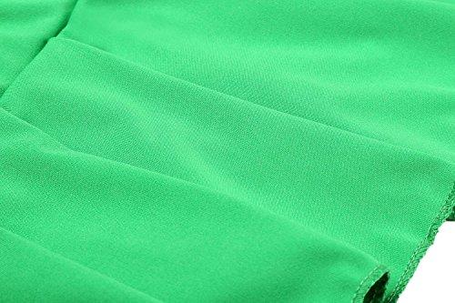 cooshional Damen Mini Rock Faltenrock Schulmädchen Skirt Schwarz Minirock Röcke Dessous Grün