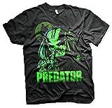 The Predator Offizielles Lizenzprodukt PRotator Herren T-Shirt (Schwarz), Large