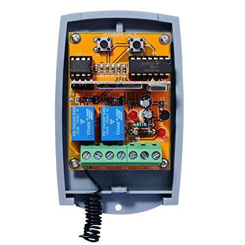 Universal 2-befehl Rolling Fixed code 12 - 24 VAC/DC Funkempfänger. N/O - N/C - Torantriebe Board Control