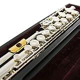 Nuovo Flauto D'argento 17 Foro Chiuso GL W/Placcato Head, Oro Funzioni Studente Trasversale Flauta Obturator C Chiave Con I Legenda