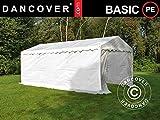 Dancover Lagerzelt Zeltgarage Garagenzelt-Basic 2-in-1, 4x6m PE, weiß