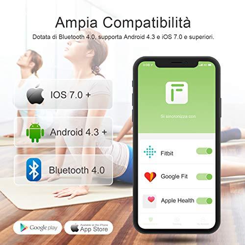 Bilancia Impedenziometrica iTeknic Bilancia Pesa Persona Digitale Massa Grassa Bluetooth Misura Precisa di Peso, Massa Magra, Massa Muscolare, BMI, Massa Ossea per Dispositivi iOS e Android - 5
