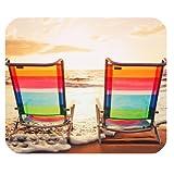 Chaise de plage rectangulaire, Tapis de souris en caoutchouc antidérapant, Pad