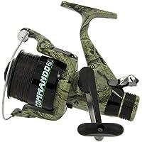 Carp Fishing Camo Lineaeffe Commando 60 Bait free Runner Reel + Spare Spool