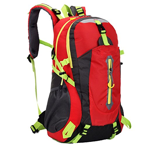 40L Zaino Tattico Di Assalto Impermeabile Yy.f Zaino Bug Out Bag Borse Alpinismo Trekking Outdoor Trekking Zaino Multifunzionale. 3 Colori Red