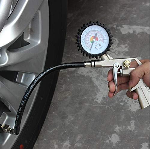 XINZ - Medidor de presión de neumáticos de Coche Esfera Grande, inflador de neumáticos con manómetro...