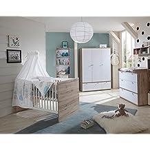 babyzimmer kinderzimmer babymbel komplett set babyausstattung babybett wickelkommode schrank mdchen - Babyzimmer Mdchen