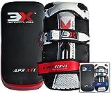 3XSports Kick Boxen Stick Shield Fokus Thai Pads Gebogen MMA