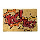 koko doormats Felpudo con Diseño TOC, PVC, Coco, 40 x 60 cm