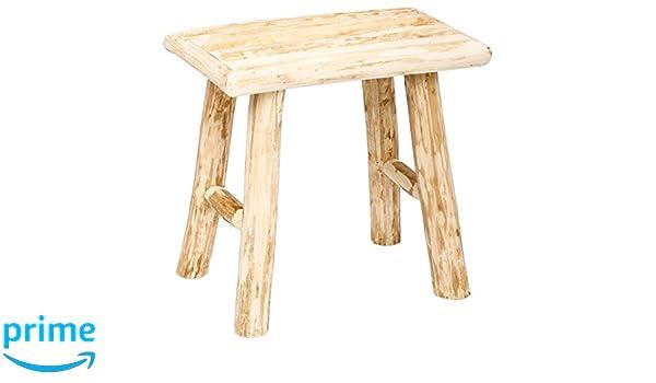 Atmosphera sgabello stile naturale colore legno grezzo
