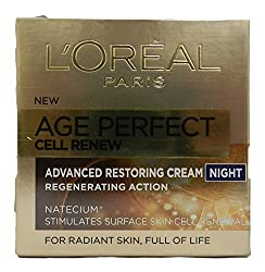 LOreal Paris Age Perfect Cell Renew Advanced Restoring Cream Night 1.7 Ounce