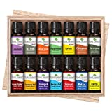 14 Essential Oil Set (7 Synergies and 7 Singles) Includes 100% Pure, Therapeutic Grade of: Sensual , Energy, Germ Fighter, Relax, Immune-Aid, Tranquil, Invigor-Aid, Lavender, Peppermint, Eucalyptus, Tea Tree, Orange, Lemon & Cinnamon. 10 ml each. by Plant Therapy Essential Oils