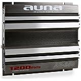 AUNA AB-250 - Amplificador estéreo para vehículos (1200 W), plateado
