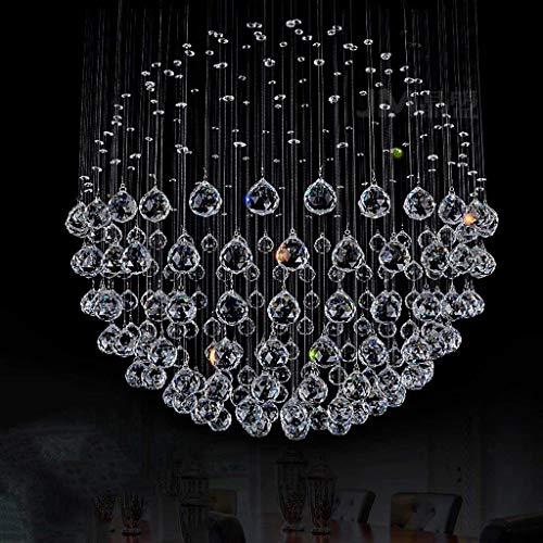 OYC Lustre en cristal clair clair K9 boule chandelier lustre en cristal pour un salon),70 * 90cm (9 têtes),