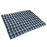 Anaterra Decke Picknickdecke 200 x 150 cm/gefüllt / wasserabweisende Unterseite