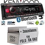 VW Polo 6N + 6N2 - Kenwood KDC-BT510U - Bluetooth CD/MP3/USB Autoradio - Einbauset