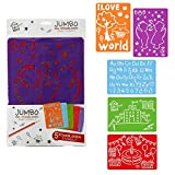 Malschablonen XL, 5er Set, Zeichenschablone, Malschablone, Kindergeschenk