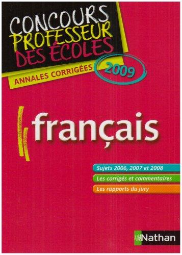 ANNALES CORRIGES DU CRPE-FRANC