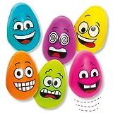 Baker Ross Flummi-Eier mit lustigen Gesichtern für Kinder – Perfekt als Ostergeschenk oder als kleine Party-Überraschung für Kinder