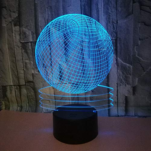 3D anemia Basketb CRA 7 cambio de color LED lampara de luz...