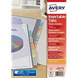 Avery  Intercalaires Polypropylène - A4 - 8 Onglets Personnalisables - Transparent (L7437-8)