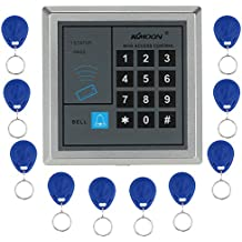 KKMOON RFID di Prossimità Entrata con Porta Sistema di Controllo Accessi + 10 Portachiavi